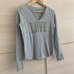 Zadig & Voltaire - LOVE stud V Henley Tshirts